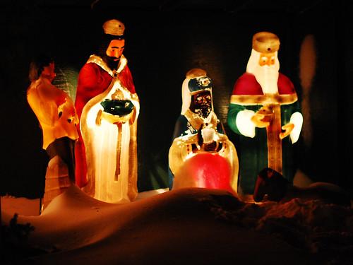 Three Wise Men and shepherd