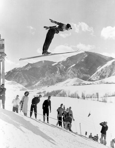 vintage skier