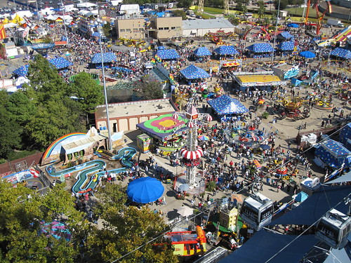 Ariel view of the fair from the Texas Star