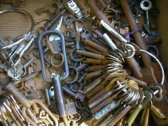 BINS OF KEYS