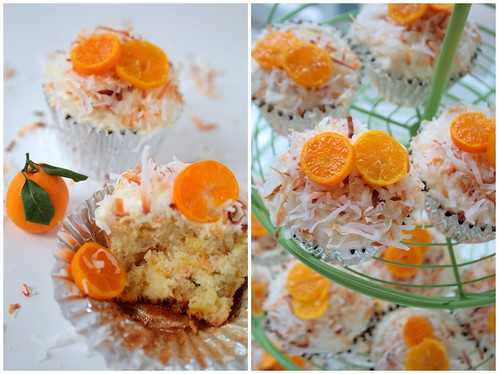 Kumquat Coconut Cupcakes