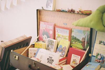Books in Suitcase