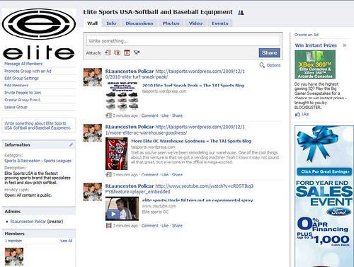 elite sports facebook