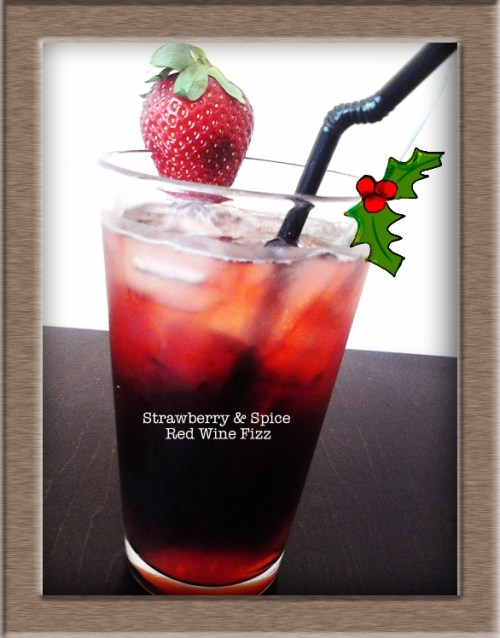 xx Strawberry & Spice Red Wine Fizz xx