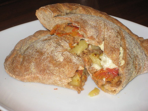 VPS - Calzone - Pineapple, Tempeh Bacon, Roasted Tomatoes