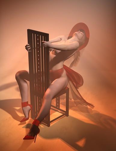 Burlesque Render 13-Chair 1 - Daz|Studio nude 3d render