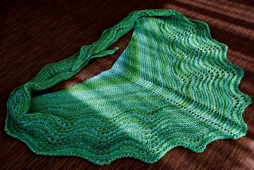 Vancouver Winter Greens shawl