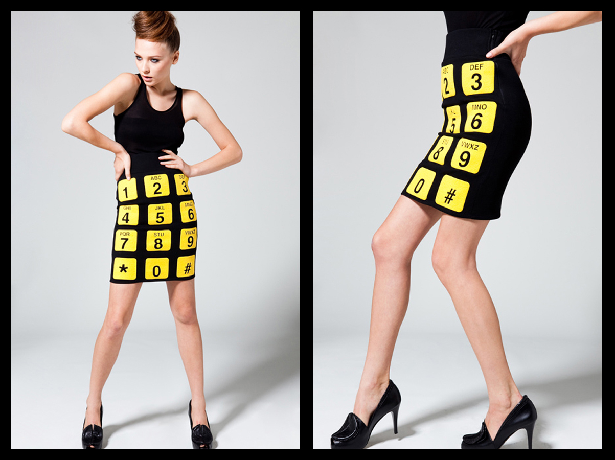 Phone Skirt in Black-Yellow Puff Binder 1