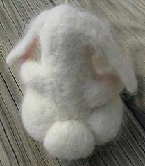felted bunny butt