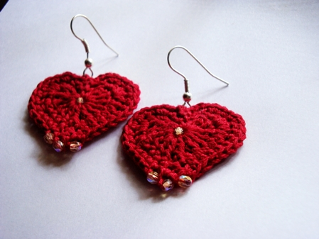 Crochet - Hearty Earrings -FO2