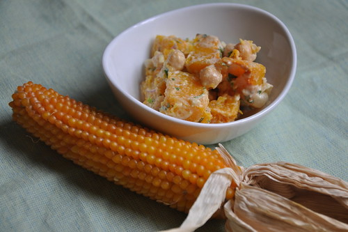 Warm Butternut Squash and Garbanzo Bean Salad
