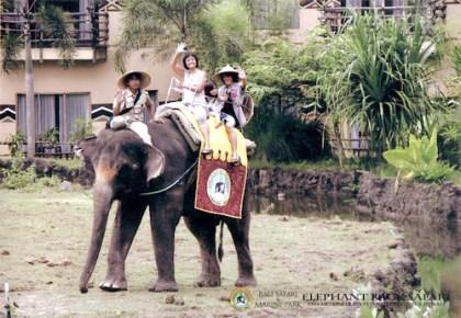 elephant ride @ the Bali Safari & Marine Park