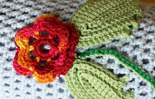 Finished Irish Crochet Yoga Mat Bag