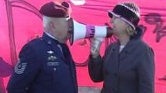 """Cindy Sheehan with """"not an oath keeper"""""""