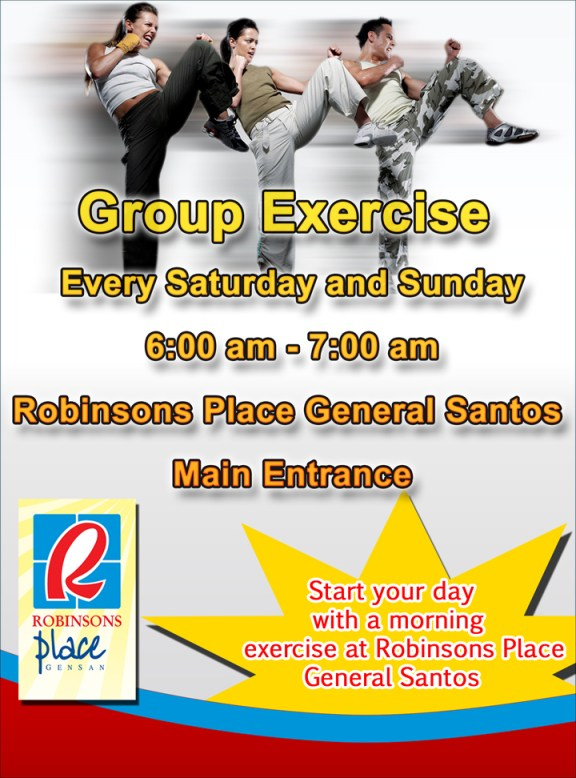 Robinsons GenSan s Poster for their Group Exercise Activity
