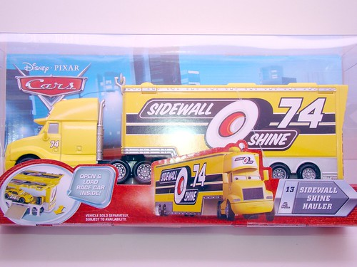disney cars sidewall shine hauler