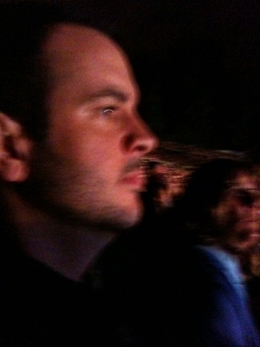 Mike is very serious when he watches concerts.