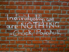 Chuck Palahniuk Graffito, Bridport, Dorset, UK