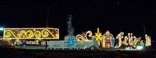 Glorieta Minerva, adornada en navidad