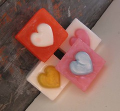 Set of Four Hearts