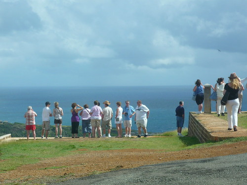 Tourists at the Blockhouse, Antigua