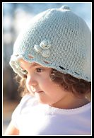 Rosy Scalloped Hat Thumbnail
