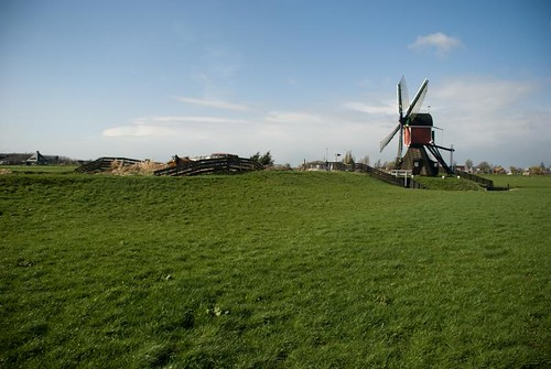 View with a windmill