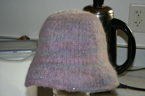 felted hand dyed cloche