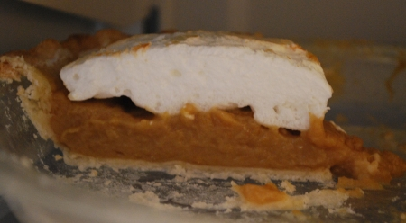 Butterscotch pie slice