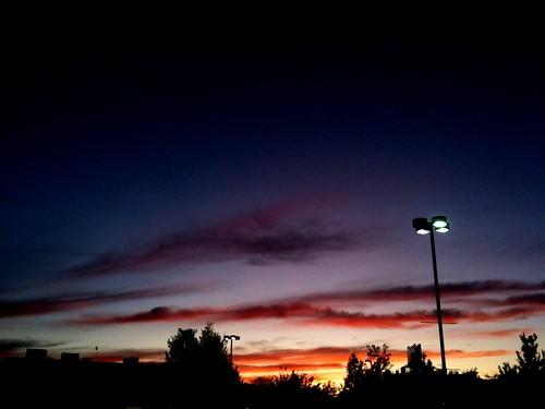 Sunset in Porter Square