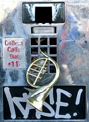 Defunct phone booth, Portland, Oregon