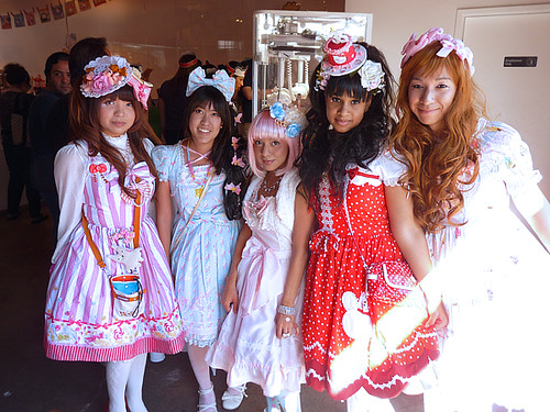 Our adorable Lolita pals, Olivia, Kim, Ari, Robin, and Andrew worked at the event