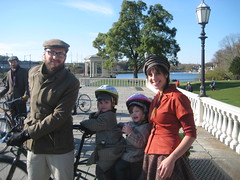 The Keenan Family at the Philadelphia Tweed Ride