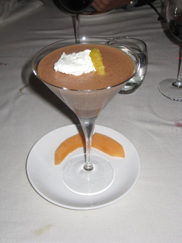A rich, yet light chocolate mousse that received the thumbs-up from Eric (France).