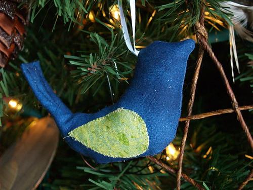 Fabric Bird Ornament