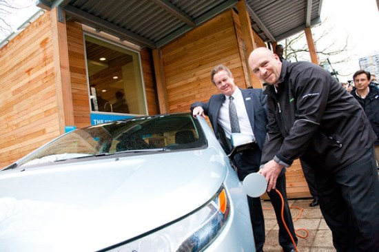 filling up an electric car