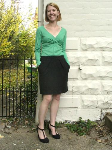 charcoal skirt 1