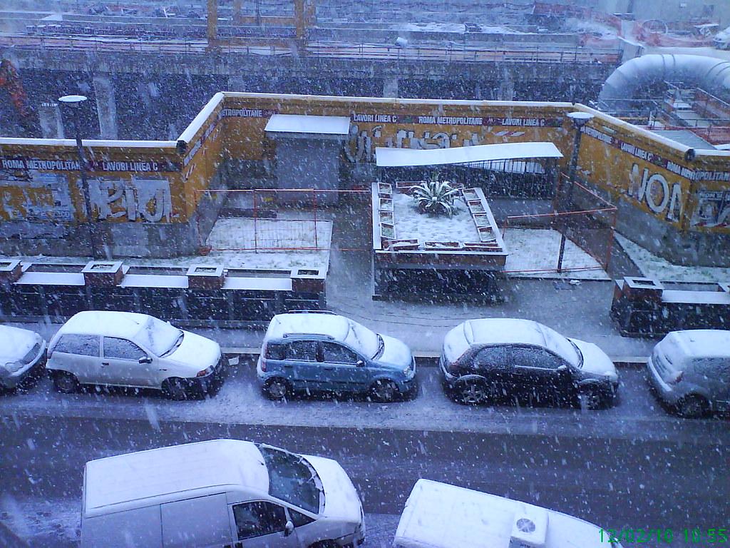 Roma di neve