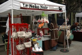 Le Neko Noir booth at the Union Street Design Festival