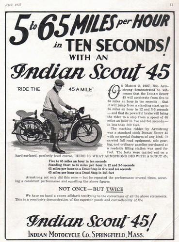 Afbeeldingsresultaat voor 1927 Indian Scout 45