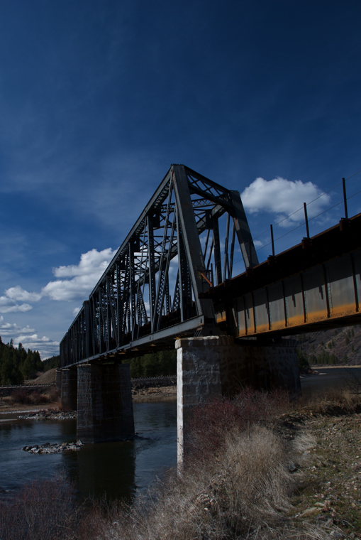 Railroad bridge over the Clark Fork