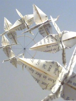 bookish crane mobile etsy