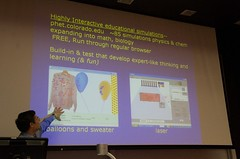 Prof. Carl Wieman lecturing on teaching science