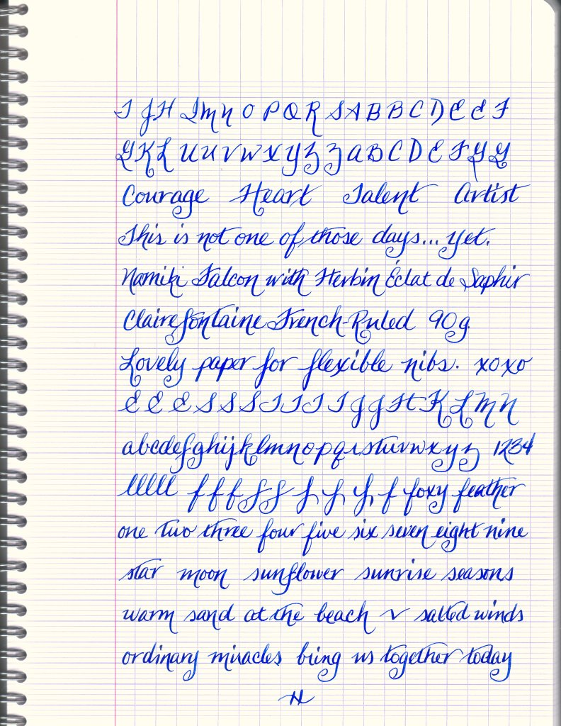 Sample on French-Ruled Notebook