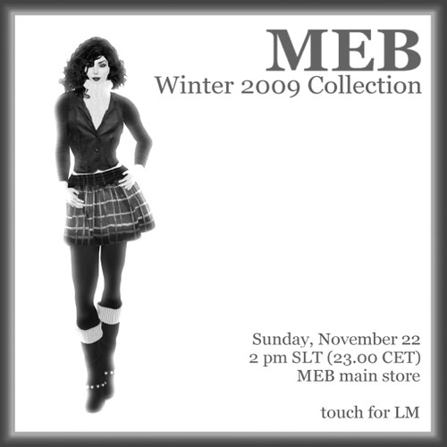 MEB Winter Collection 2009 Invite