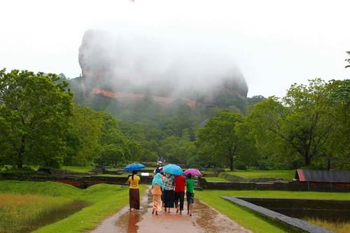 To Sigiriya in the rain