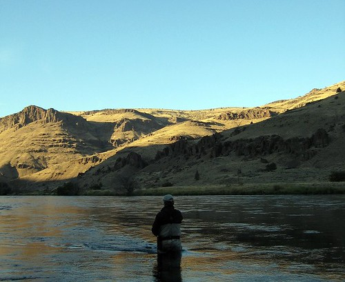 swinging the Deschutes River