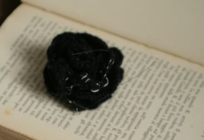 crocheted brooch