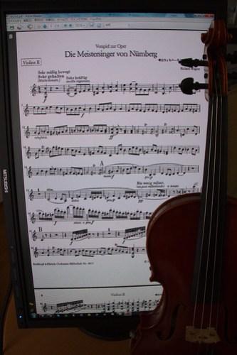 violin and monitor No.2