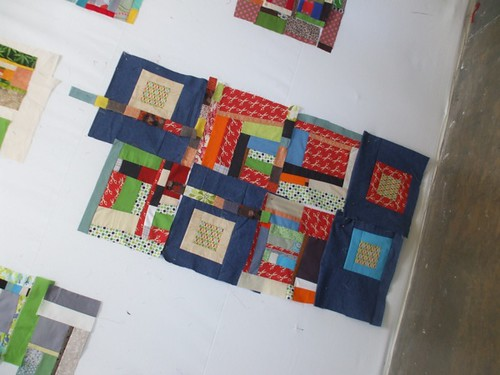 my blocks on Day 2 of the Denyse Schmidt class